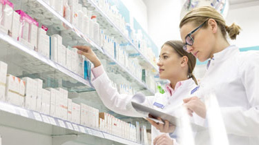 Pharmacists working in a pharmacy